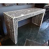 Bone Inlay Modern Antique Handmade Console Table