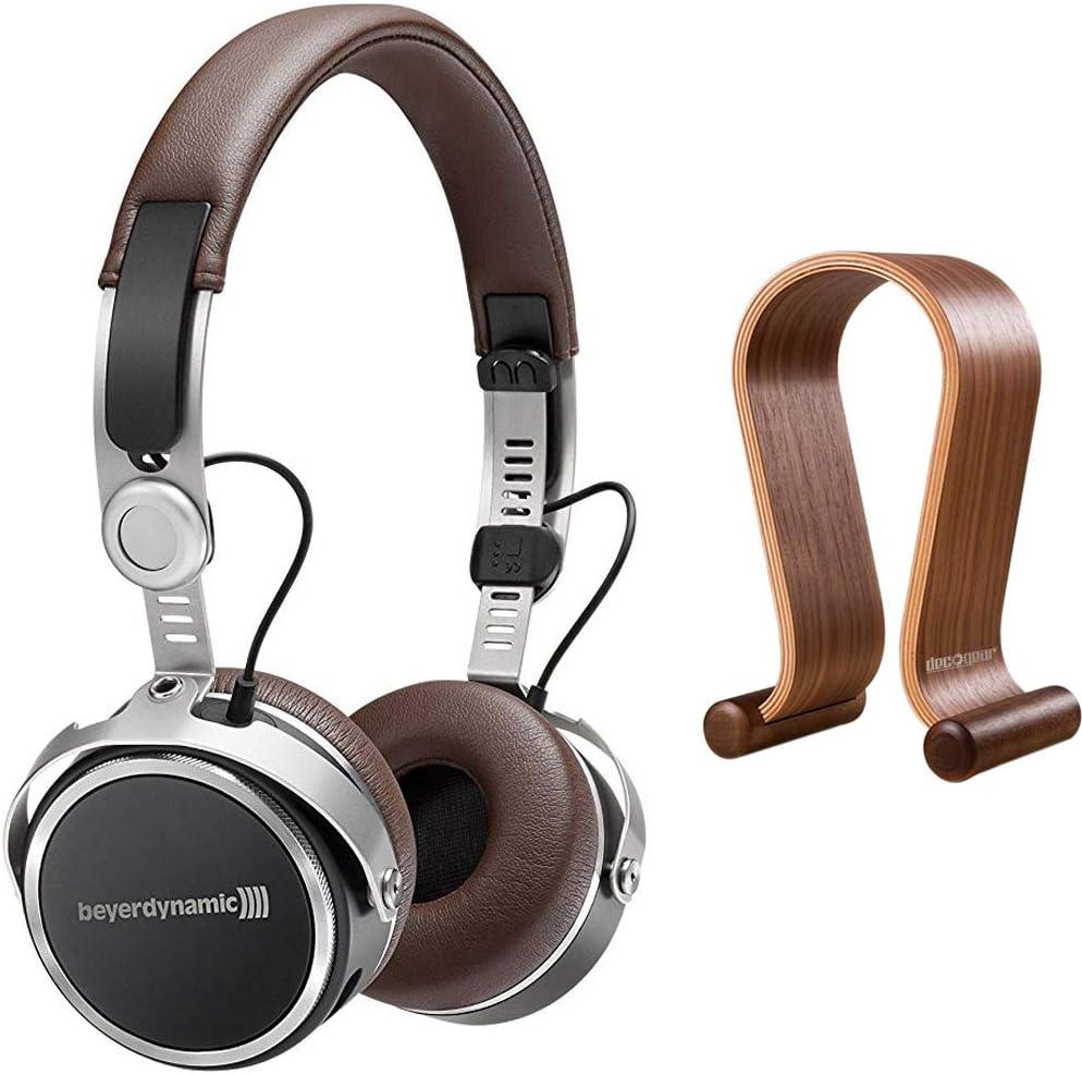 beyerdynamic Aventho Wireless Bluetooth On-Ear Headphones & Deco Gear Headphone Stand Bundle
