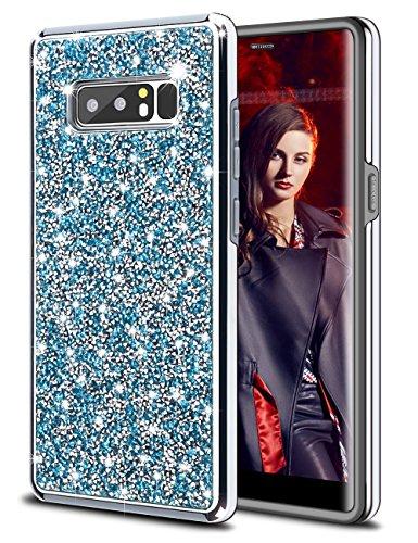 HoneyAKE Galaxy Note 8 Case Glitter Bling Rhinestone Sparkle Diamond Crystal Heavy Duty Shockproof Hybrid Hard Cover Soft Bumper Protective Phone Case for Galaxy Note (Diamond Bling Hard Case)