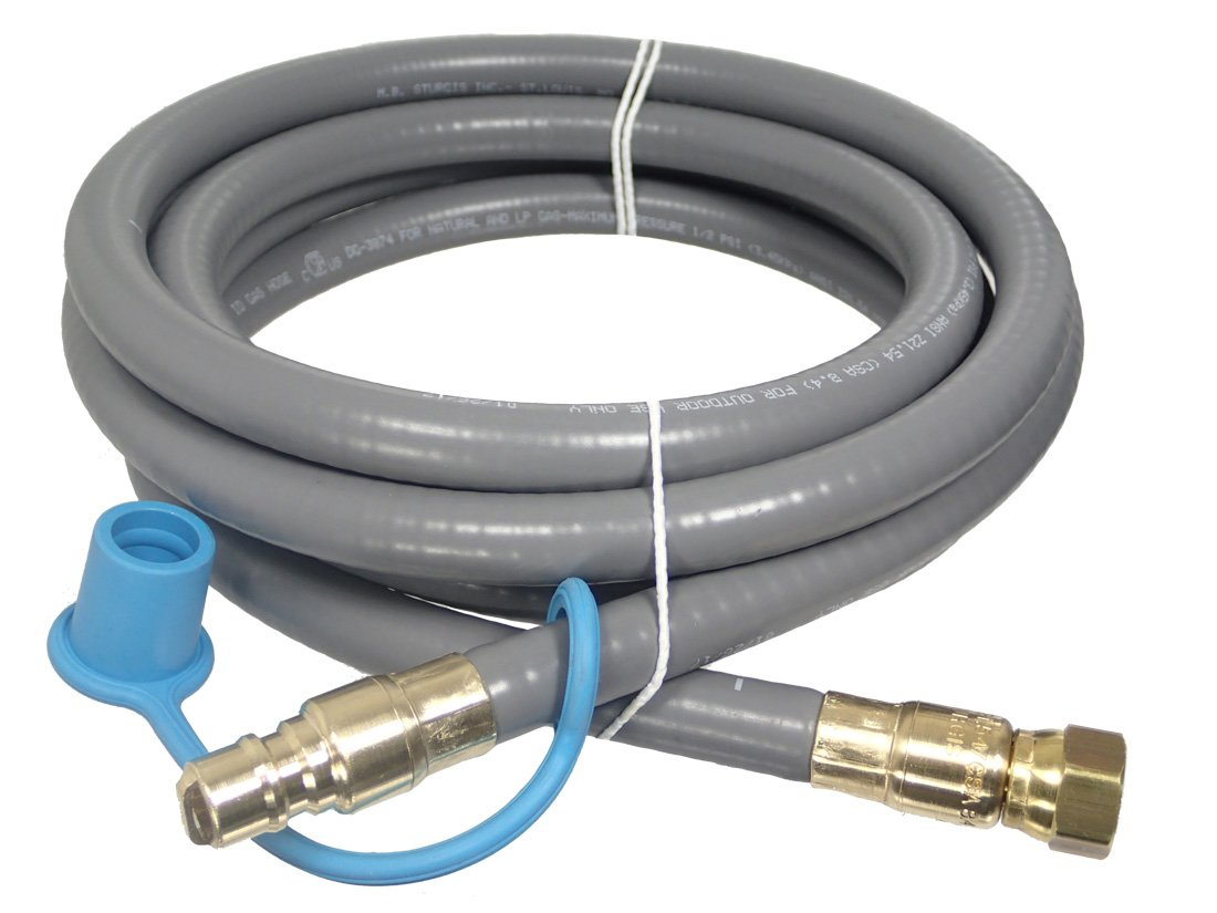M.B. Sturgis Inc. 3/8'' ID Natural Gas BBQ Grill Quick Disconnect Gas Connector (18 Feet)