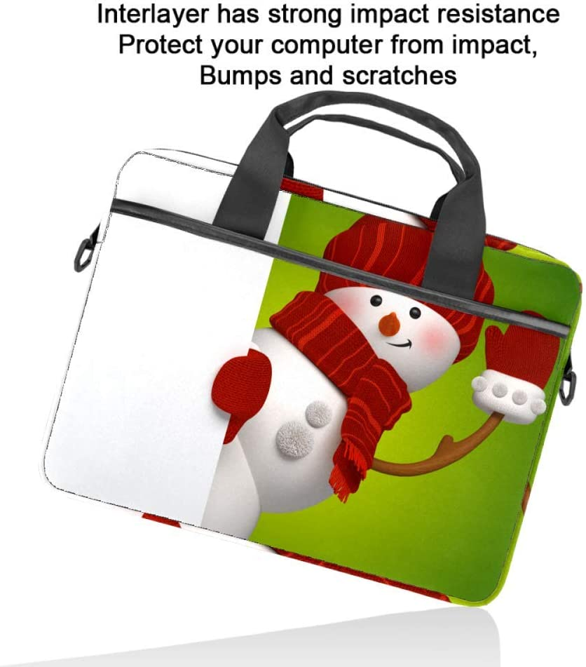 Hello Snowmen Laptop Bag Satchel Tablet Sleeve Business Shoulder Bag Document Handbag Messenger Bag Briefcase 15x5.4 Inch