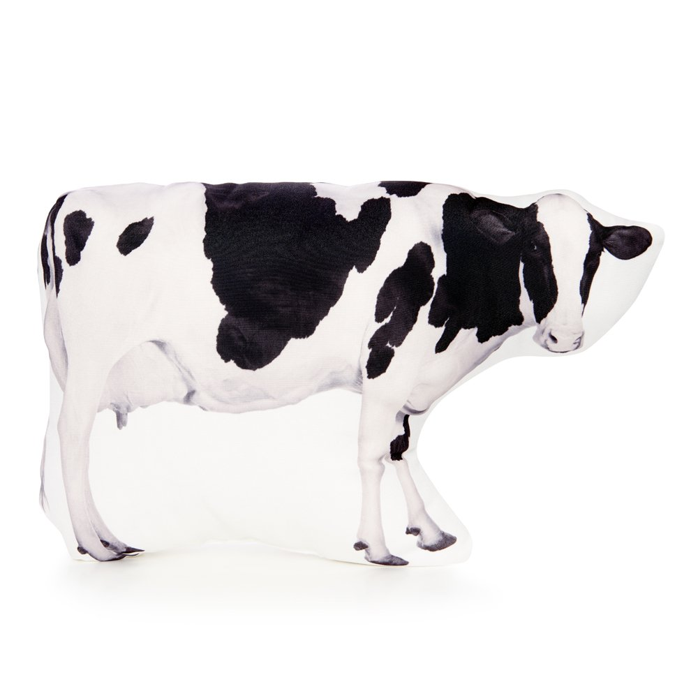 Cushion Co - Cow Black and White Pillow 16'' x 12''
