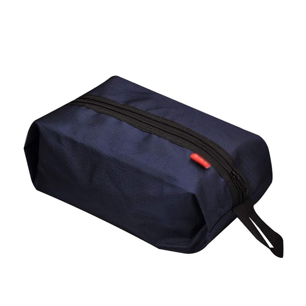 Shoe rack HUYP Sundries Bag Outdoor Travel Goods Shoes Storage Bags Handbags Sports Shoes Bags 1637cm (Color : Blue)