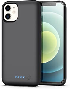 Battery Case for iPhone 11 Newest【6800mAh】 Protective Rechargeable Charging Case for iPhone11 External Battery Pack for Apple iPhone 11 Portable Charger Case (6.1 inch) - Black