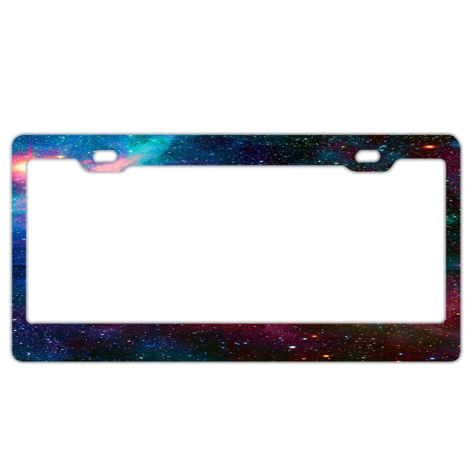 Aluminum Metal License Plate Frame Customized Frames Personalized License Plate Frame Car License Plate Cover for Both Front and Back License Tag