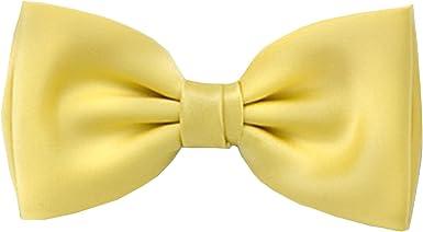 Frederic Thomass Pajarita corbata de moño amarillo básico de ...