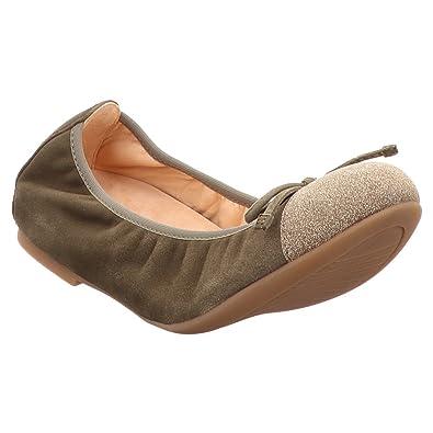b5db8104b2cb3e Unisa Damen Ballerinas Ballerina Auto grün 431702  Amazon.de  Schuhe ...