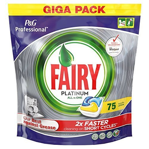 Fairy Platinum All in One Professional Dishwasher detergent 75 Lemon
