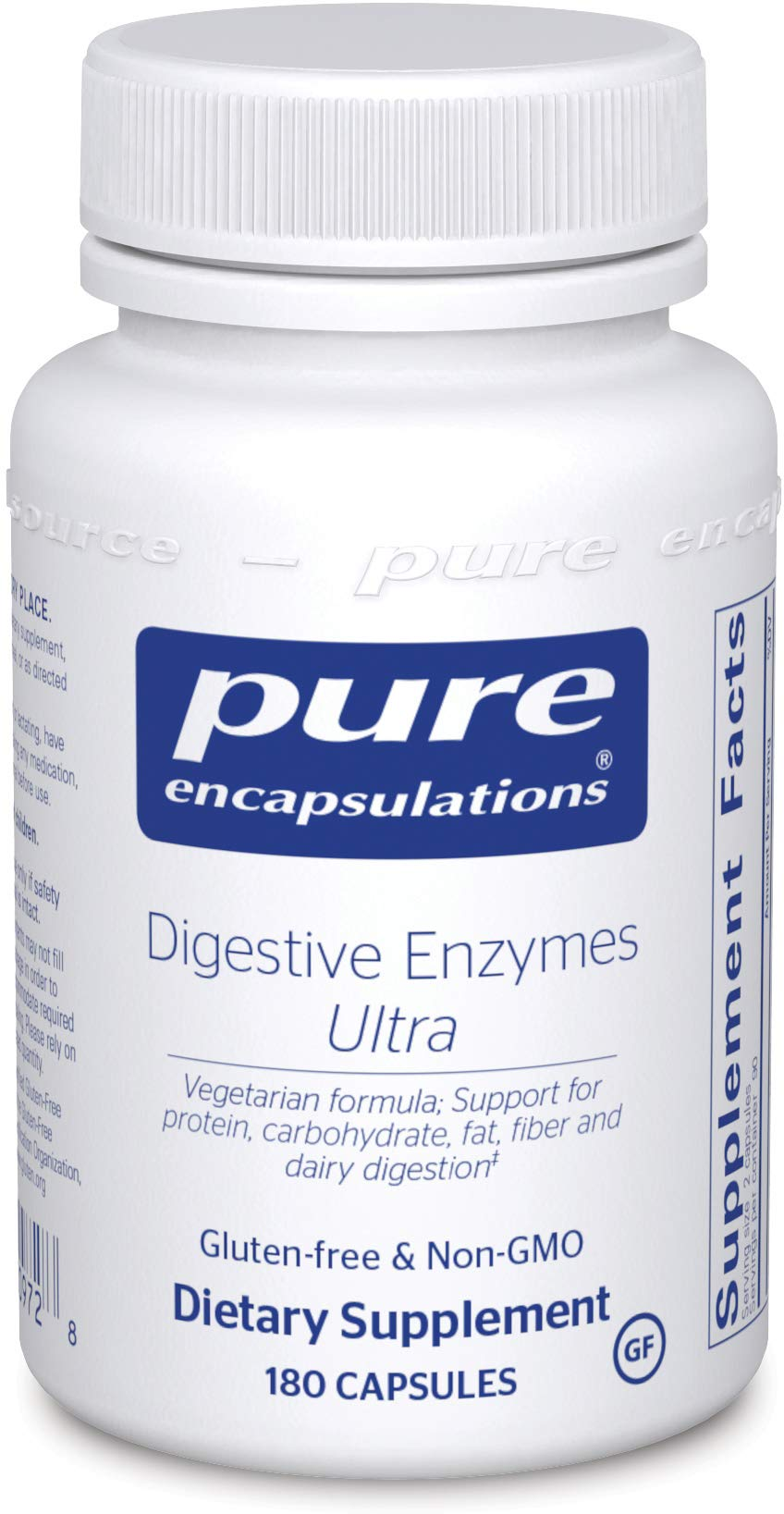Pure Encapsulations Digestive Enzymes Ultra | Supplement to Aid in Breaking Down Fats, Proteins, and Carbohydrates for Digestion* | 180 Capsules