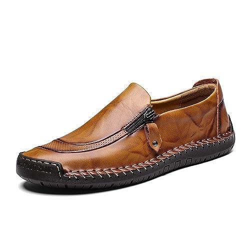 Loafers Bateau Ville Homme Chaussures Mocassin Cuir Basses Été Derby 8nwON0vm
