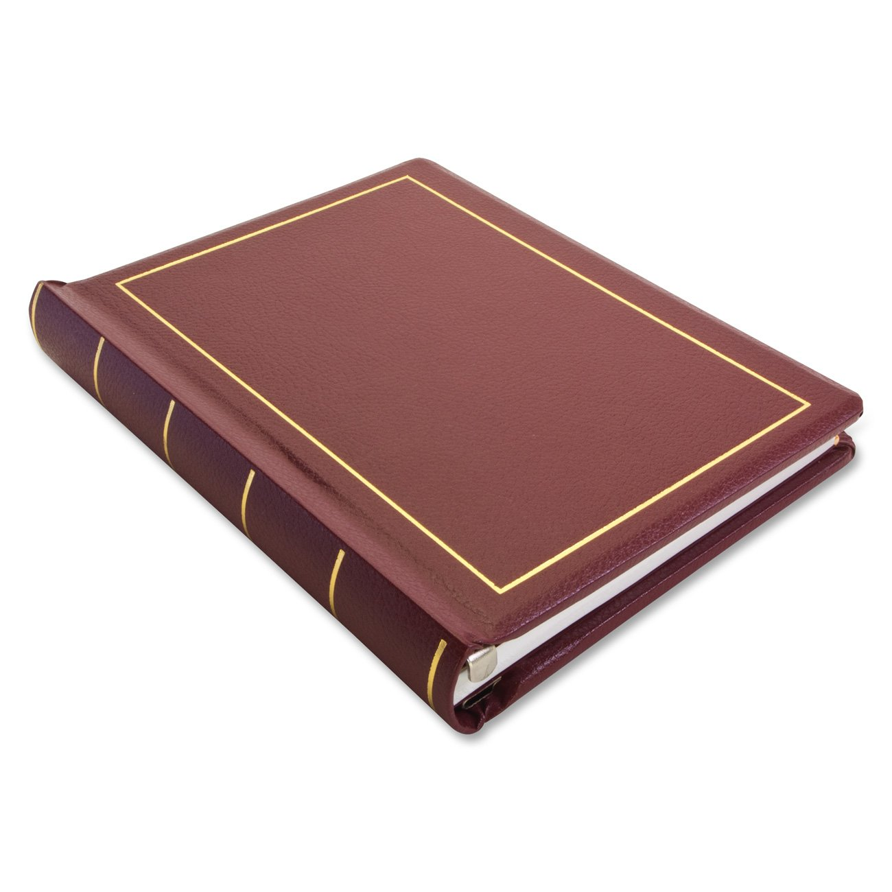 Wilson Jones 0396-11 Looseleaf Minute Book, Red Leather-Like Cover, 125 Pages, 8 1/2 x 11 Inches by Wilson Jones