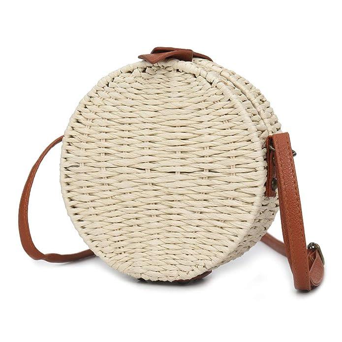Amazon.com: Bolsas de paja, bolsas de ratán para mujeres ...