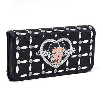 Betty Boop Bags & Wallets Cartera de Billetera clásica de Betty Boop con pedrería y diseño