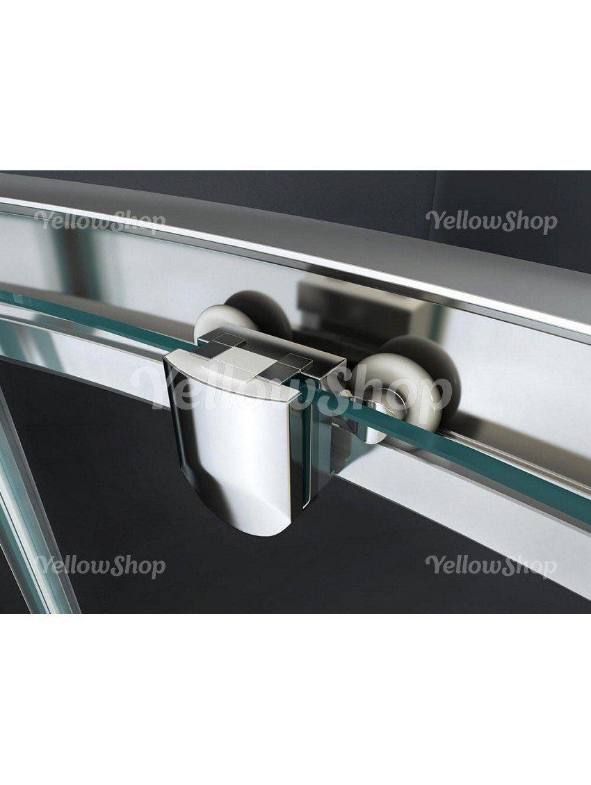 Cristallo 6mm : Puntinato Opaco Yellowshop Dimensioni: 80X80 cm Box Cabina Doccia Bagno Curvo Semicircolare