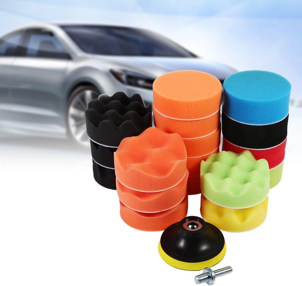 M10 Drill Adapter 19 Pcs 3 Car Polishing Pad Set Sponge Buff Polishing Pad Set for Car Polisher /& Waxing Car Polishing Sponge Kit