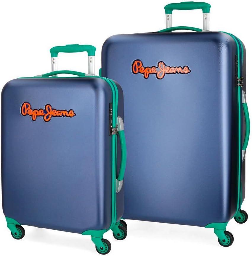 Juego de maletas Pepe Jeans Bristol Azul rígidas 55-67cm
