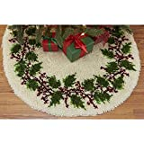 Herrschners® Craftways Holly Wreath Tree Skirt Latch Hook Kit