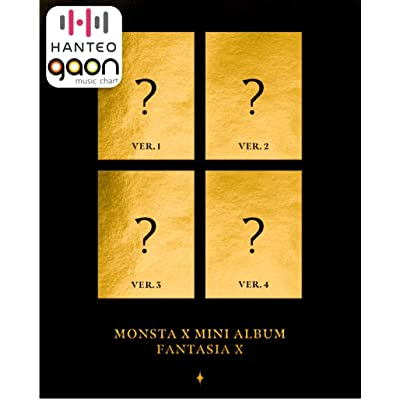Monsta X - Fantasia X [Random Ver.] (Mini Album) [Pre Order] CD+Photobook+Folded Poster+Pre Order Benefit+Others with Extra Decorative Sticker Set, Photocard Set: Arts, Crafts & Sewing