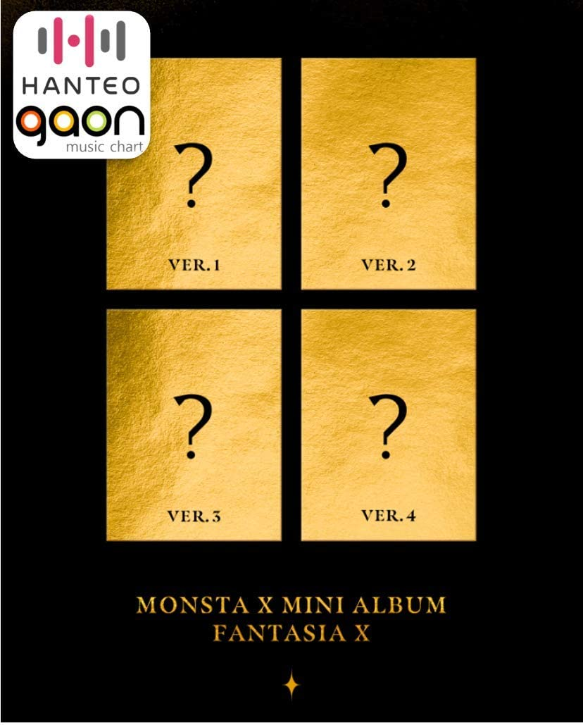 Monsta X - FANTASIA X [Ver.1+2+3+4 Full Set] (Mini Album) [Pre Order] 4CD+4Photobook+4Folded Poster+4Pre Order Benefit+Others with DHL Tracking, Extra Decorative Sticker Set, Photocard Set