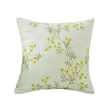 Amazon.com: Cojín ZHAOSHUNLI almohada lino rectangular sala ...