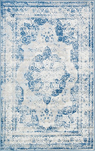 Unique Loom Sofia Collection Blue 5 x 8 Area Rug (5' x 8')