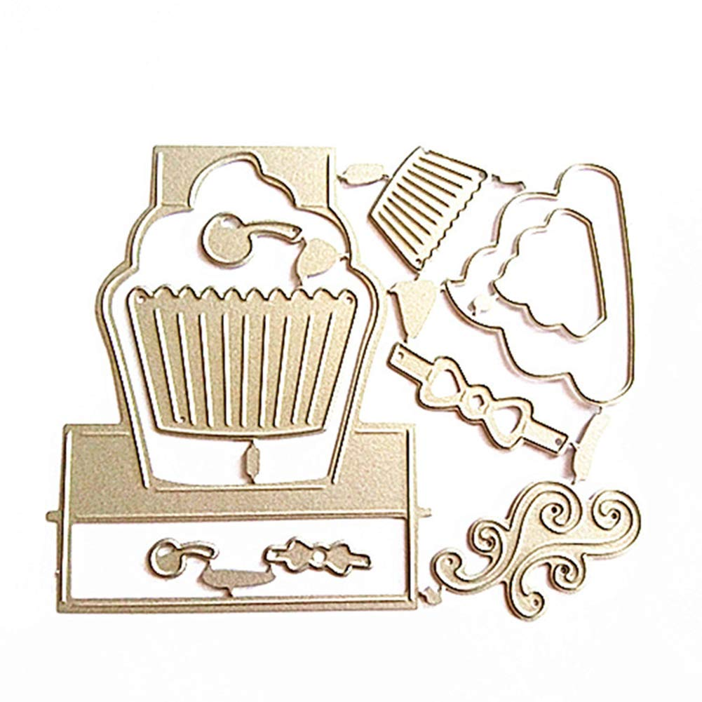 UanBO9wykh Cutting Die Pop Up Cupcake Cutting Die Set Metal Stencil for DIY Scrapbooking Album Decor for Card Aking Paper Crafts Themed Invitations Album Decoration Photo Frame Silver ●/_●