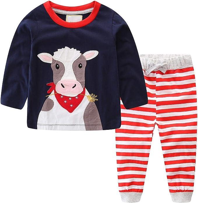 Amazon.com: FreeLu – Conjunto de ropa de algodón para niños ...