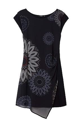 Desigual Sandrini Femme Robe Courte 38sNoir Vest 18wwvw33 8nkXOP0w