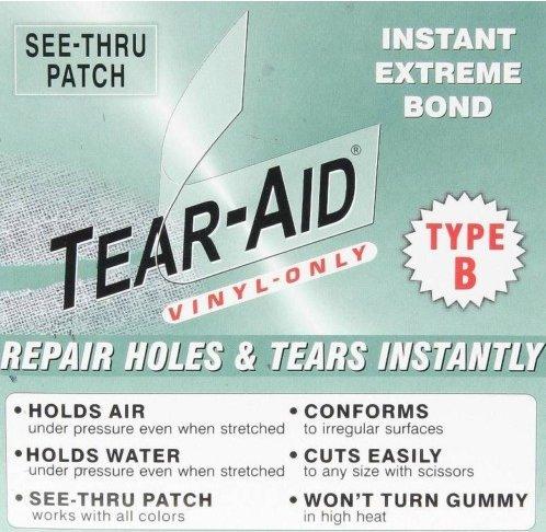 TEAR AID~B~ Air Matress/Bed Aerobed REPAIR PATCH 6