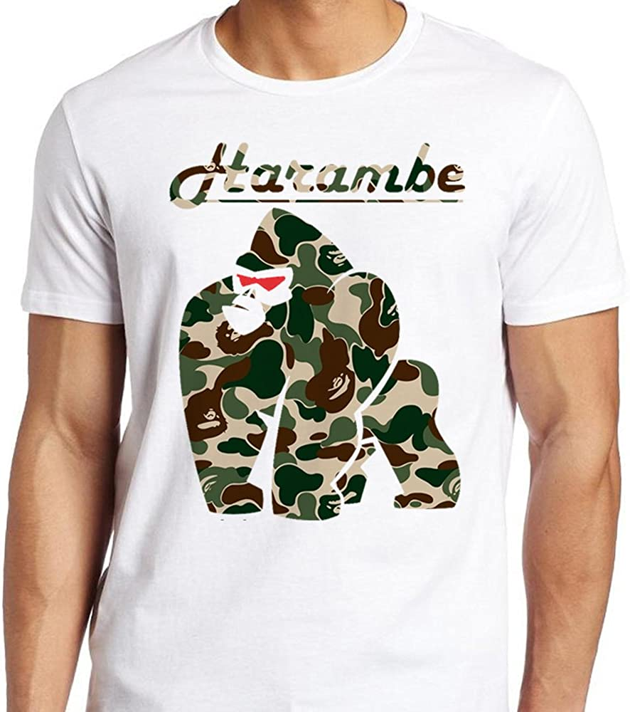 A Bathing Ape Harambe x bape Shark Army VR for Men T Shirt