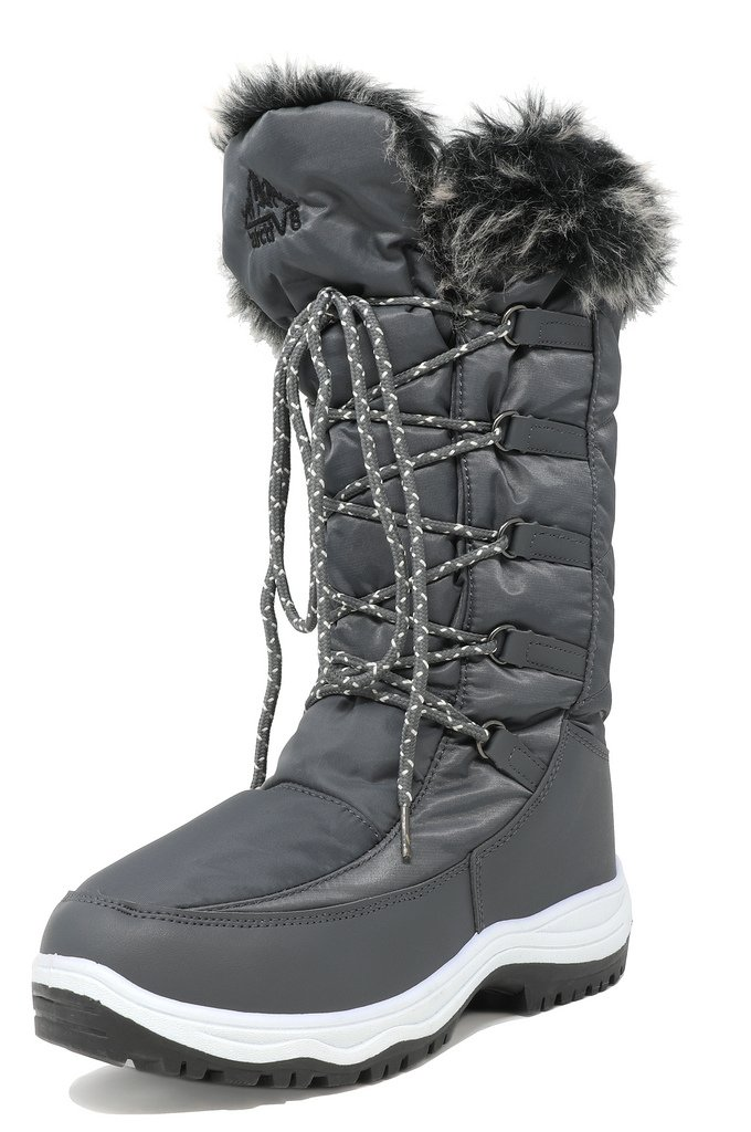 arctiv8 Women's Maine Grey Knee High Winter Snow Boots Size 12 M US