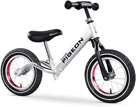 FINLR-Bicicletas infantiles Balance Bike Ruedas De 12/14 Pulgadas Aleación De Aluminio Anodizado Bicicleta Sin Pedal For Caminar For Edades De 2 A 8 Años (Color : Silver , Size : 12 Inches) : Amazon.es: Juguetes y juegos