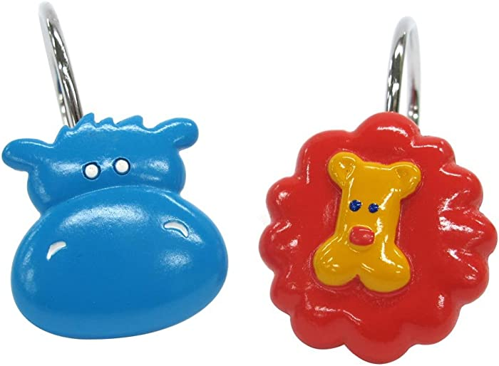 The Best Allure Home Creations Hippo Resin Shower Curtain Hooks