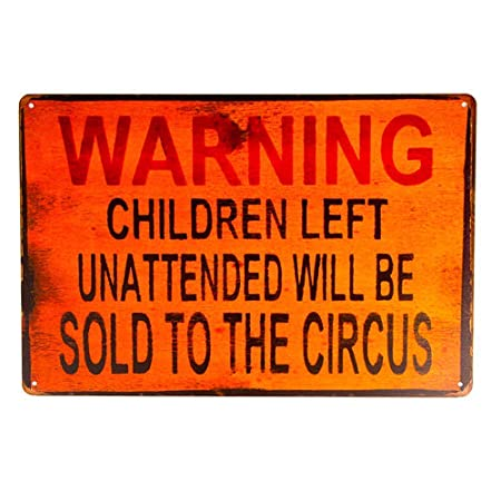 HALEY GAINES Warning Children Not Sold Circus Placa Cartel ...