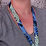 Buttonsmith Hokusai Waves Premium Lanyard - with