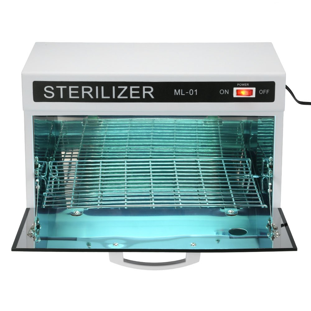 Anself 10W UV Towel Cabinet Sterilizer Salon Heater Sterilization Cabinet Towel Equipment