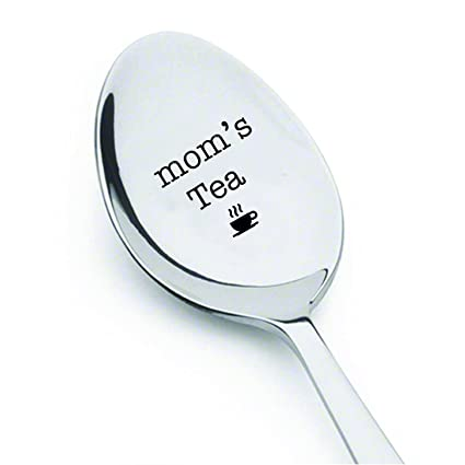 Moms Tea Engraved Spoon