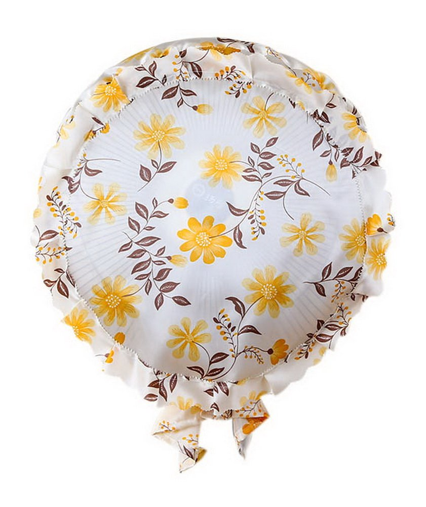 All-Inclusive Deaktop Cloth Dust Cover Floor Fan Wall Fan Cover Yellow Sunflower Gentle Meow