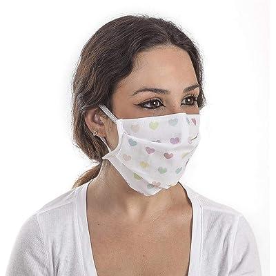 CL VITAL Set 3 Mascarillas Higiénicas Protectoras Estampadas 3 Filtros Reutilizables y Lavables Ajuste Elástico Cualquier Tamaño
