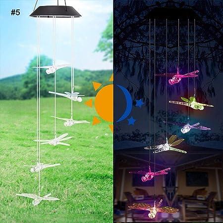 LASISZ Luz de Campana de Viento con energía Solar LED ...