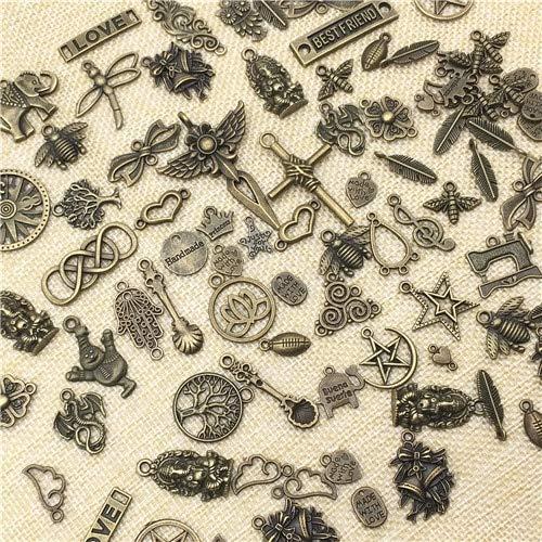 Mixed Metal Charm Silver Plated Animal Pendants | Alphabet Necklaces | Trendy Bracelets | DIY Jewelry (100pcs/lot)