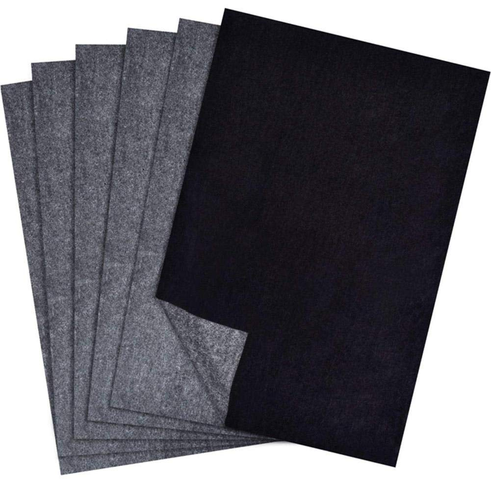 SinceY Carta Carbone Grafite Carta trasferimento Nero Carta calque, per Trasferire Il Grafite Carta calque Formato, 25 pz, 9.06 * 12.99 Pollici 25pz 9.06* 12.99Pollici