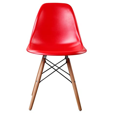 Wylang Armless Chair Dinning Chair Eames Chair Chair Eiffel Chair Set Of 2  Red