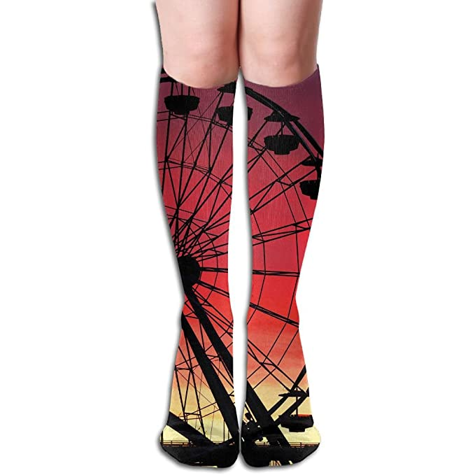 c0535ff2d1 Tube High Keen Sock Boots Crew Ferris Wheel Compression Socks Long Sport  Stockings at Amazon Women's Clothing store: