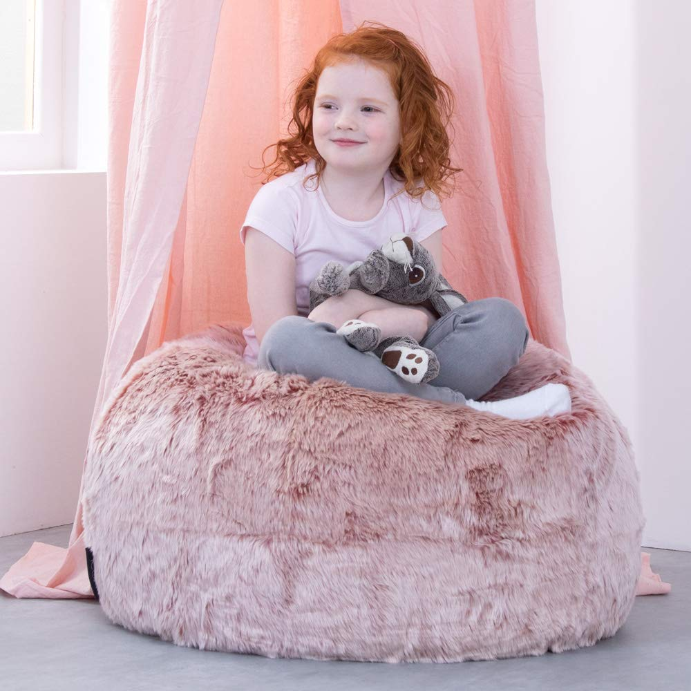Groovy Icon Large Childrens Classic Faux Fur Bean Bags Luxury Furry Kids Bean Bag Chair Rose Pink Ibusinesslaw Wood Chair Design Ideas Ibusinesslaworg