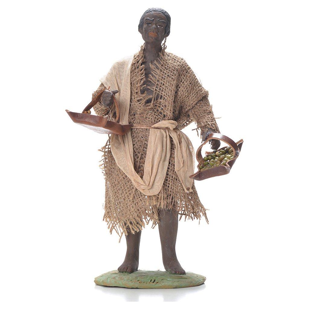Holyart Boy with leather basket, Neapolitan Nativity 24cm