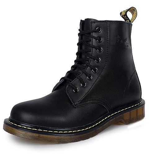 nuovo stile 4419f 2be50 GEERBU Stivali Martin Stivali Unisex Impermeabile Boots Stivali Boots Nero