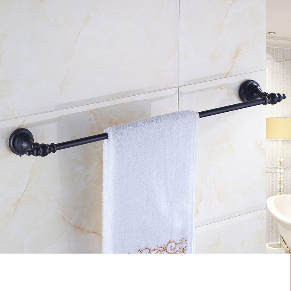 low-cost European style retro Towel rack/Copper black Towel-Bar/toilet/Bathroom accessories/Single bar Towel rack/shelf -B