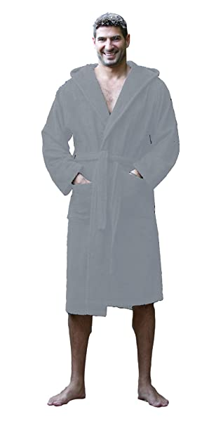 unbeatable price beautiful in colour detailing Terry Cotton Hooded Robes for Men and Women, Unisex Adult Bamboo Bathrobes