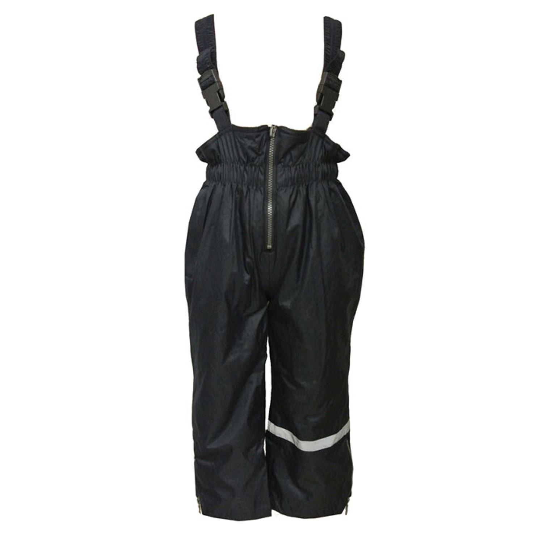 Outburst - Mädchen und Jungen Regenhose mit Latz und Fleece Wasserundurchlässig Matschhose, Dunkelblau 7485970